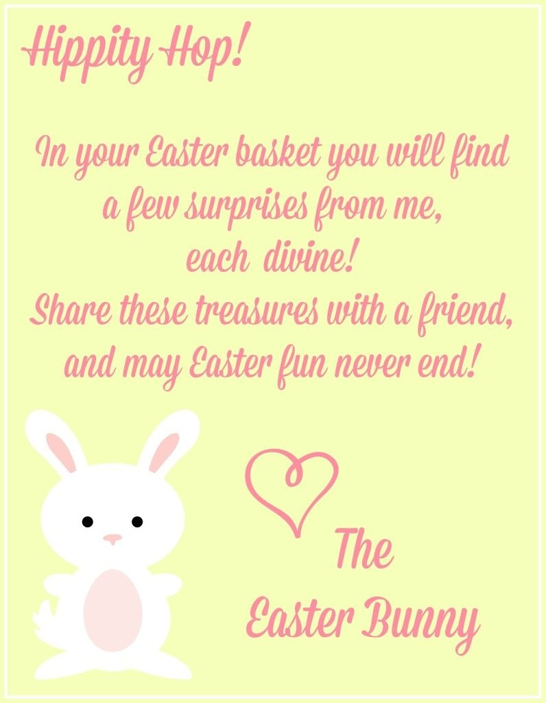 Free Easter Printables {Notes From The Easter Bunny} - | Craft Ideas - Free Printable Easter Cards For Grandchildren