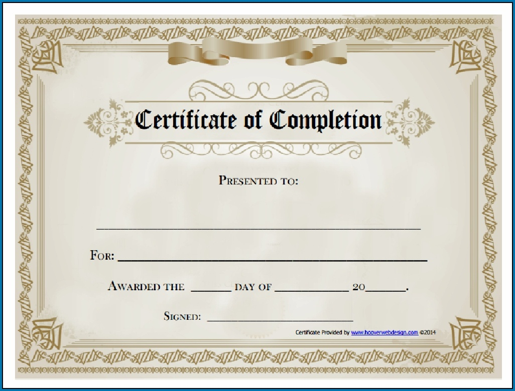 Free Editable Printable Certificate Of Completion #253 - Certificate Of Completion Template Free Printable