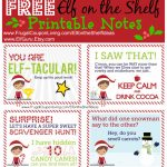 Free Elf On The Shelf Notes | Holiday Inspirations! | Elf On The   Elf On The Shelf Free Printable Ideas