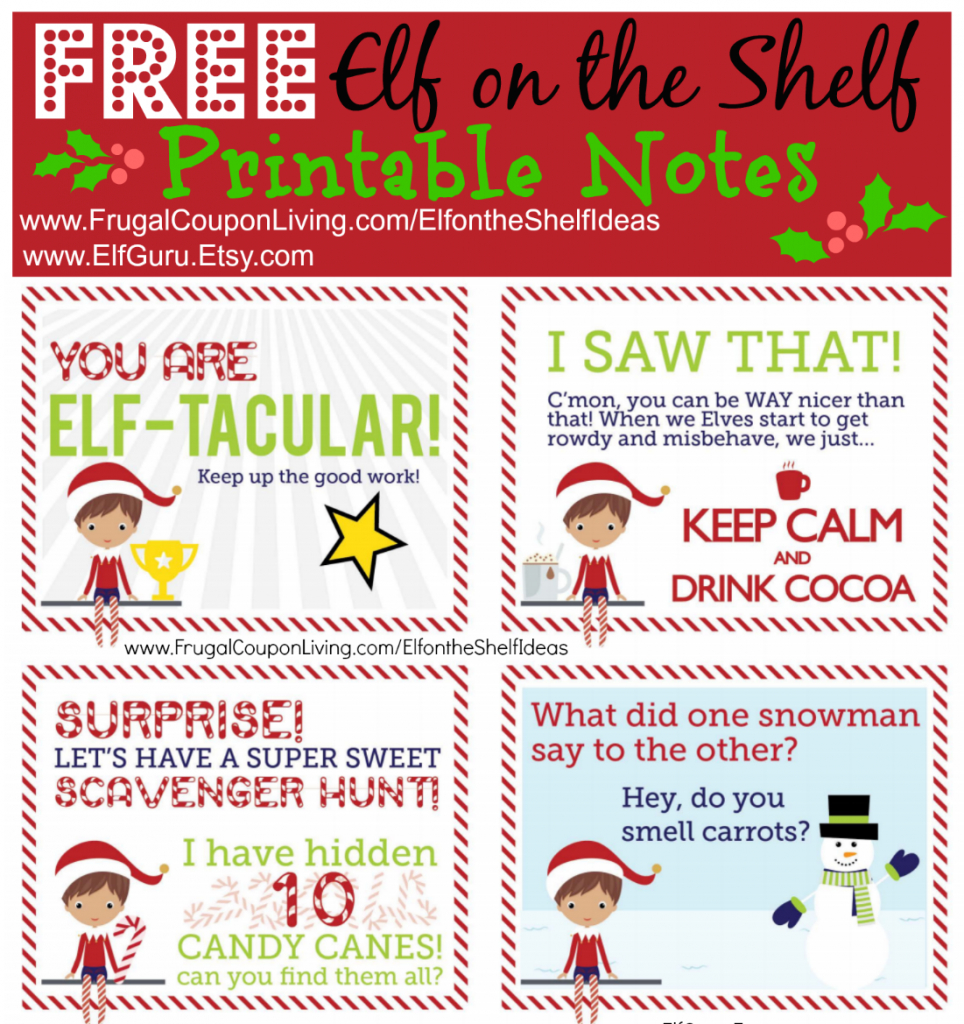 Free Elf On The Shelf Notes | Holiday Inspirations! | Elf On The - Elf On The Shelf Free Printable Ideas