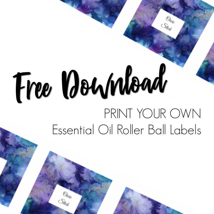Free Printable Roller Bottle Labels