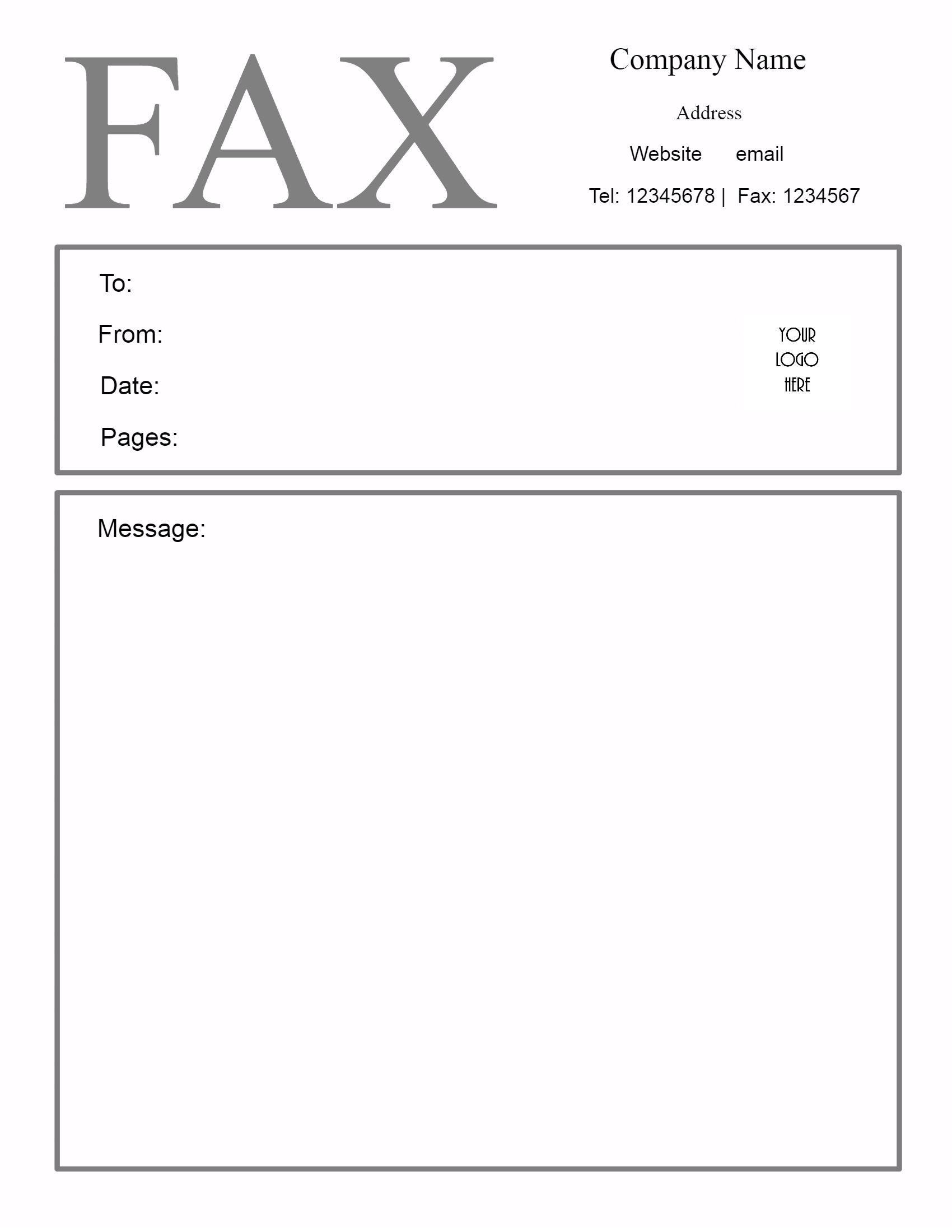 Free Fax Cover Sheet Template | Customize Online Then Print - Free Printable Cover Letter For Fax