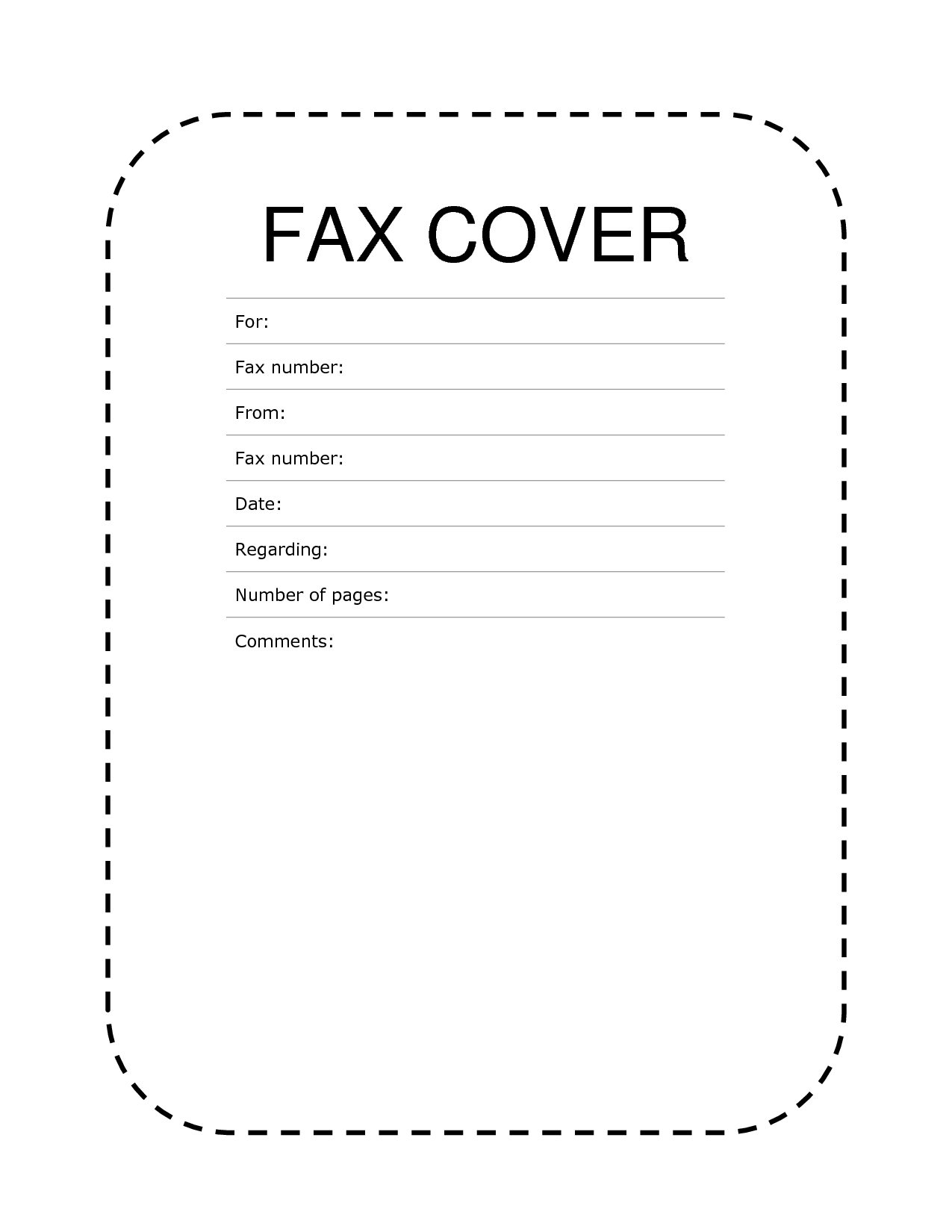 Free]^^ Fax Cover Sheet Template - Free Printable Fax Cover Page