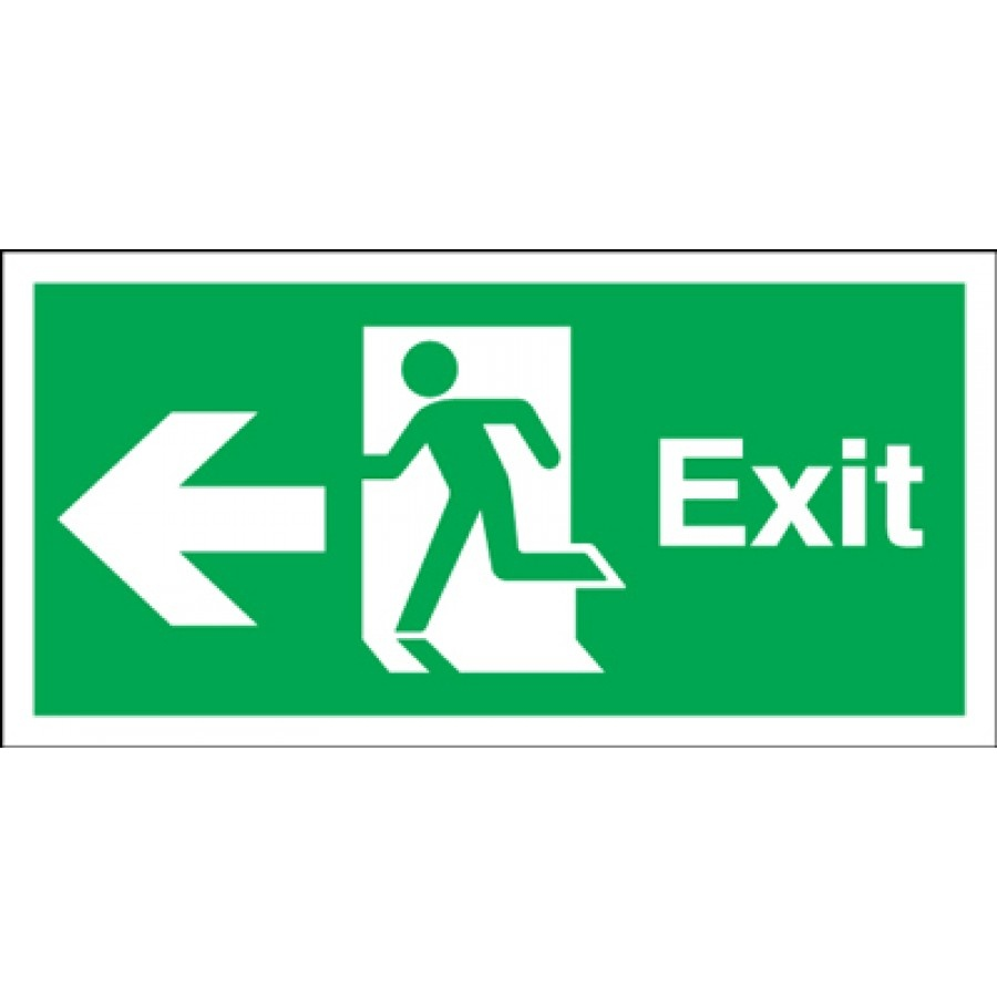 Free Fire Exit Sign, Download Free Clip Art, Free Clip Art On - Free Printable Exit Signs With Arrow