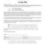 Free Florida Living Will Form   Pdf   Eforms – Free Fillable Forms   Free Printable Living Will