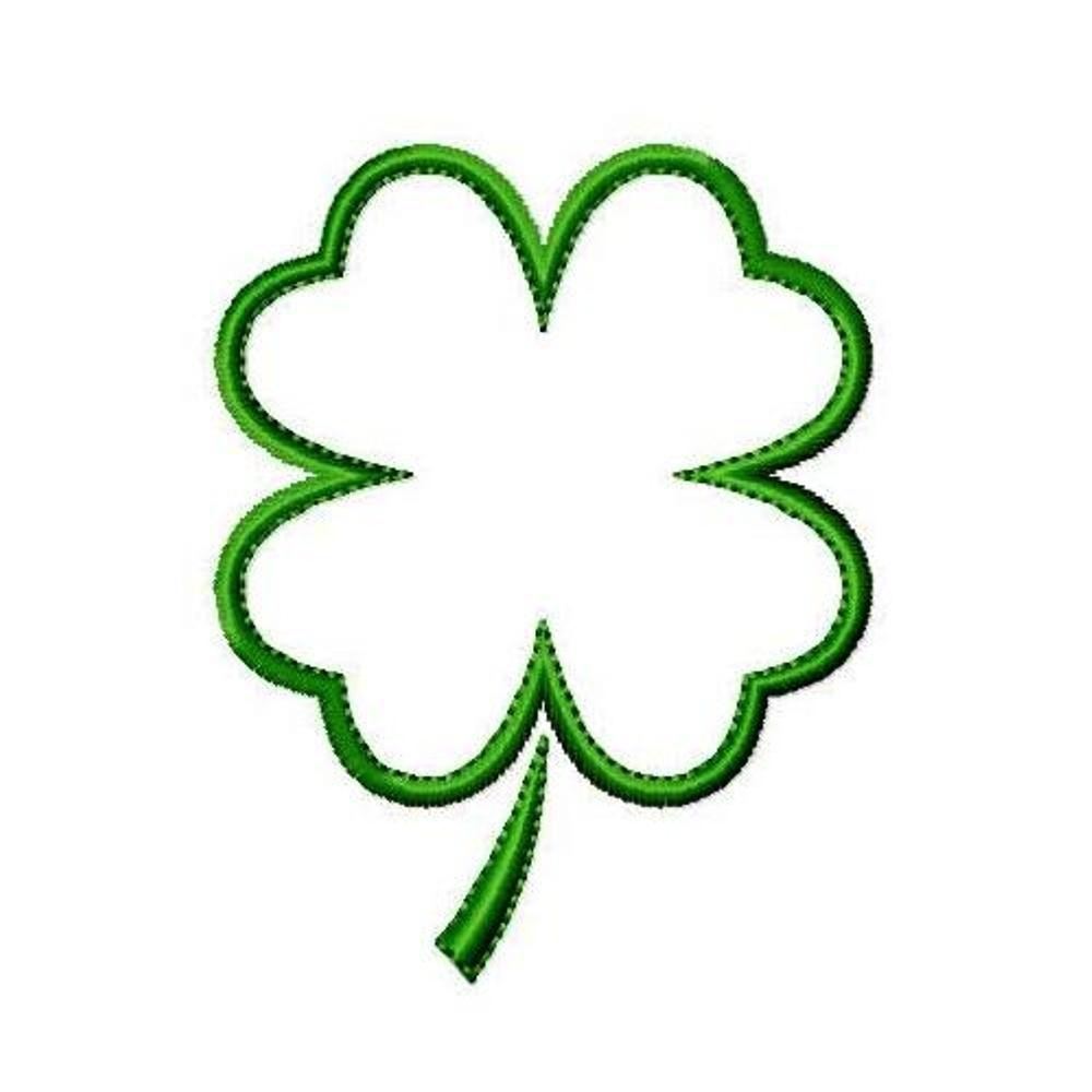 Free Four Leaf Clover Outline, Download Free Clip Art, Free Clip Art - Four Leaf Clover Template Printable Free