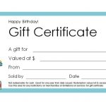 Free Gift Certificate Templates You Can Customize   Free Printable Gift Vouchers Uk