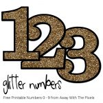 Free Glitter Numbers 0 - 9 To Download And Print - Free Printable Numbers