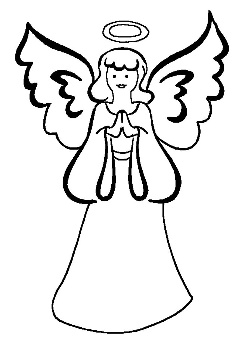Free Guardian Angel Coloring Pages, Download Free Clip Art, Free - Free Printable Angels