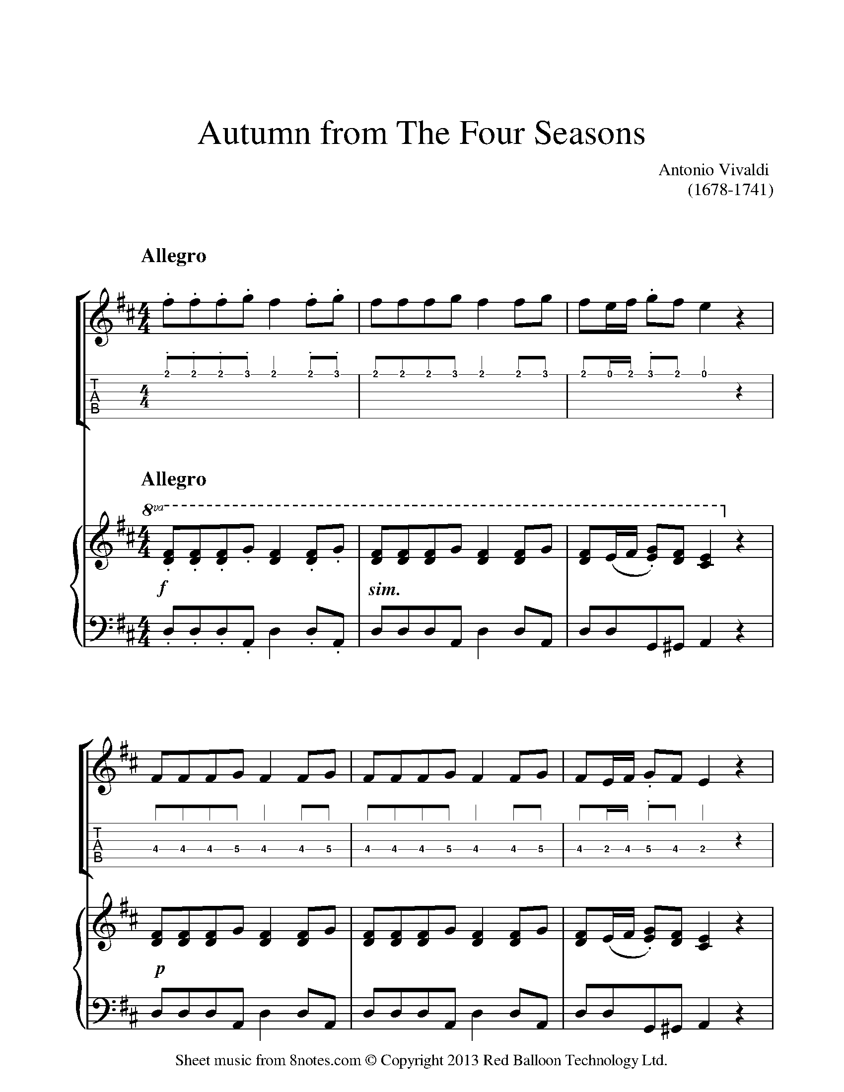 Free Guitar Sheet Music, Lessons & Resources - 8Notes - Free Guitar Sheet Music For Popular Songs Printable