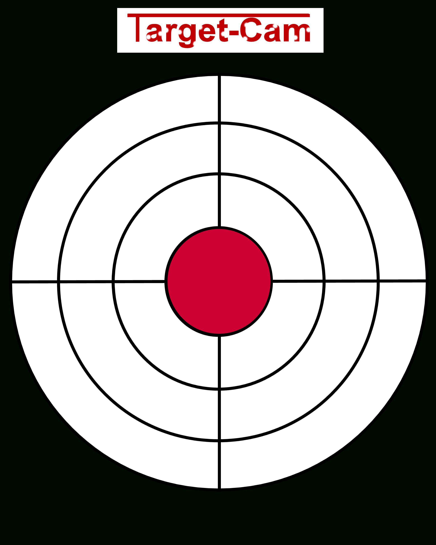 "Free Gun Targets To Print | New ""target-Cam"" Rifle And Hand Gun - Free Printable Shooting Targets"