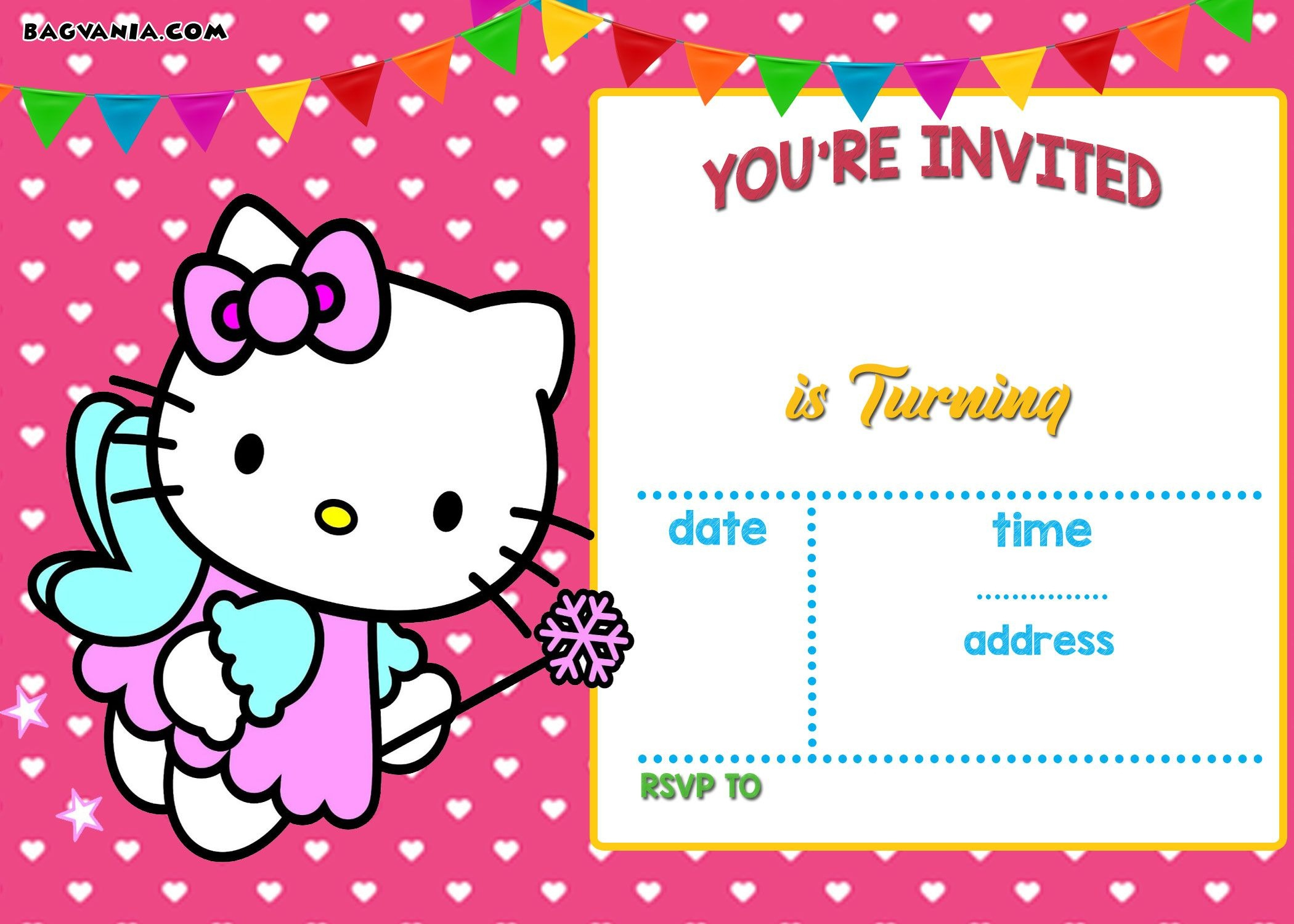 Free Hello Kitty Invitation Templates | Free Printable Birthday - Free Printable Hello Kitty Baby Shower Invitations