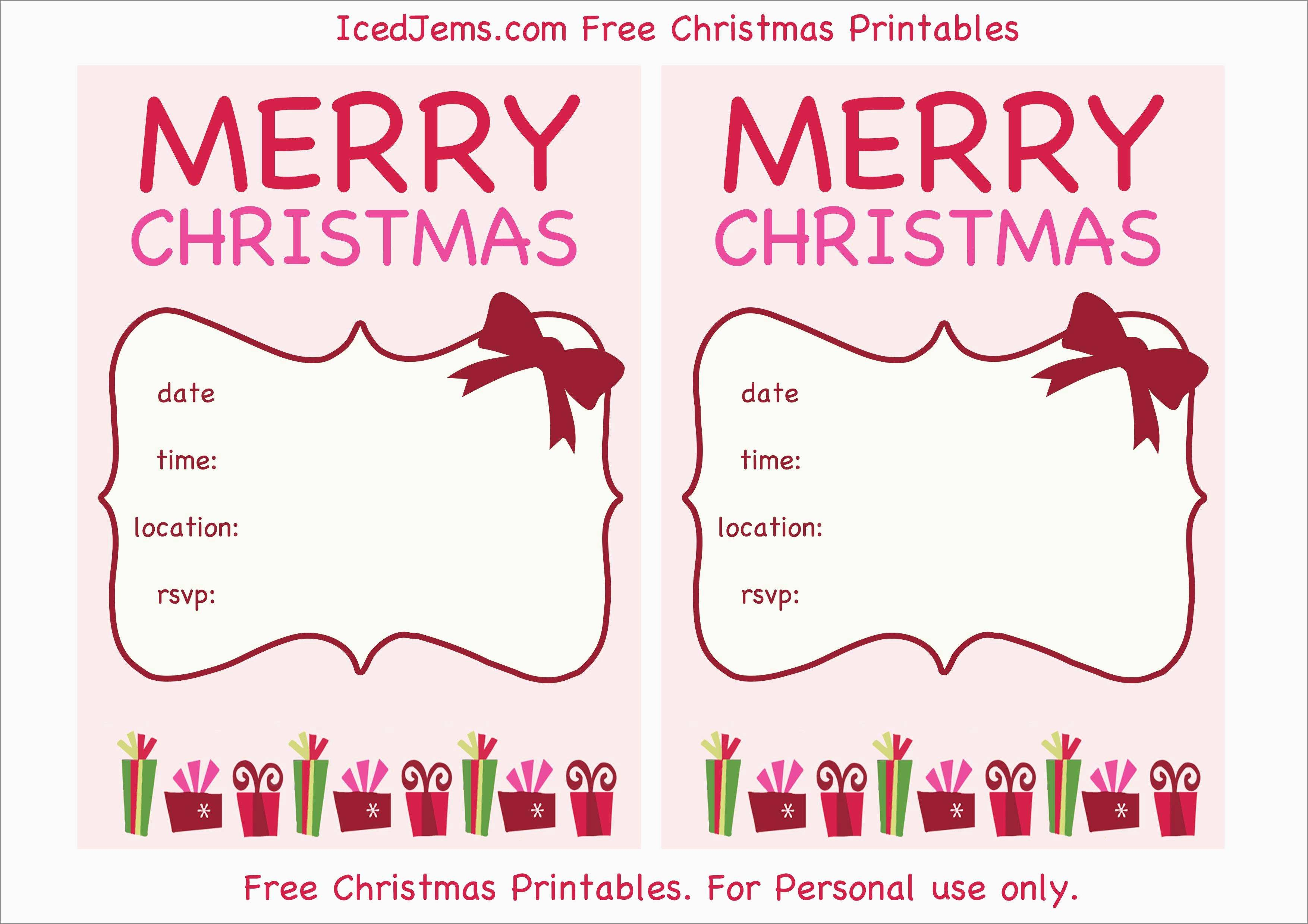 Free Holiday Invite Templates Marvelous Download Free Printable - Free Printable Christmas Invitations