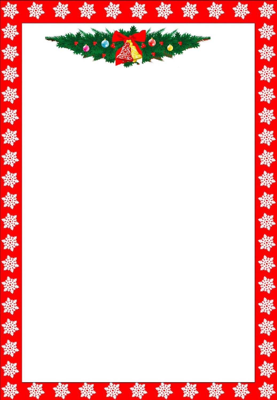 Free Holiday Stationary, Free Christmas Letterhead, Free Custom - Free Printable Christmas Letterhead