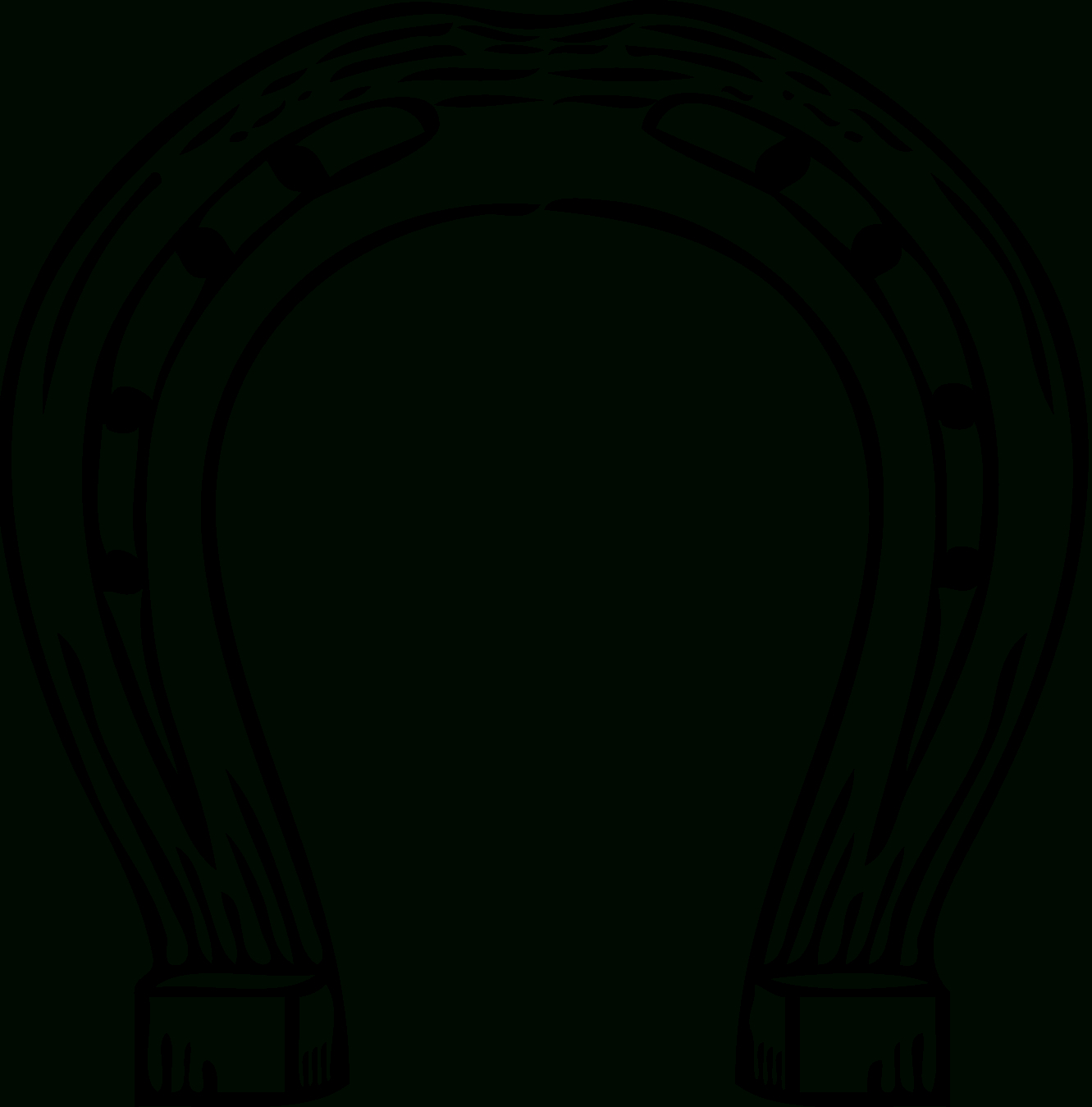 Free Horseshoe Template, Download Free Clip Art, Free Clip Art On - Free Printable Horseshoe Coloring Pages