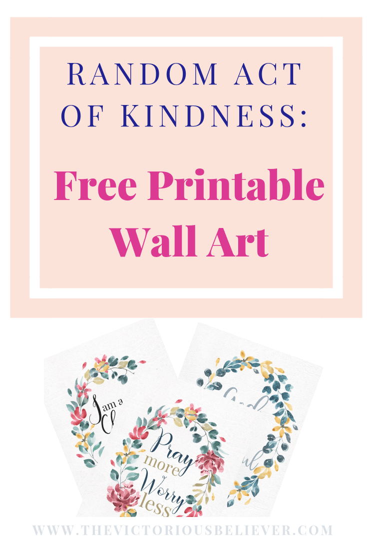 Free Inspirational Printable Wall Art | Edifying Blog Posts - Free Printable Christian Art