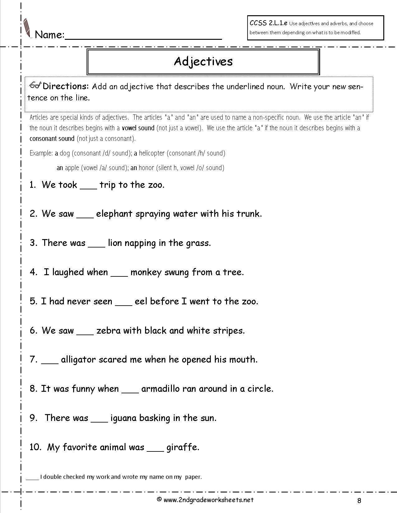 Free Language/grammar Worksheets And Printouts - Free Printable English Lessons