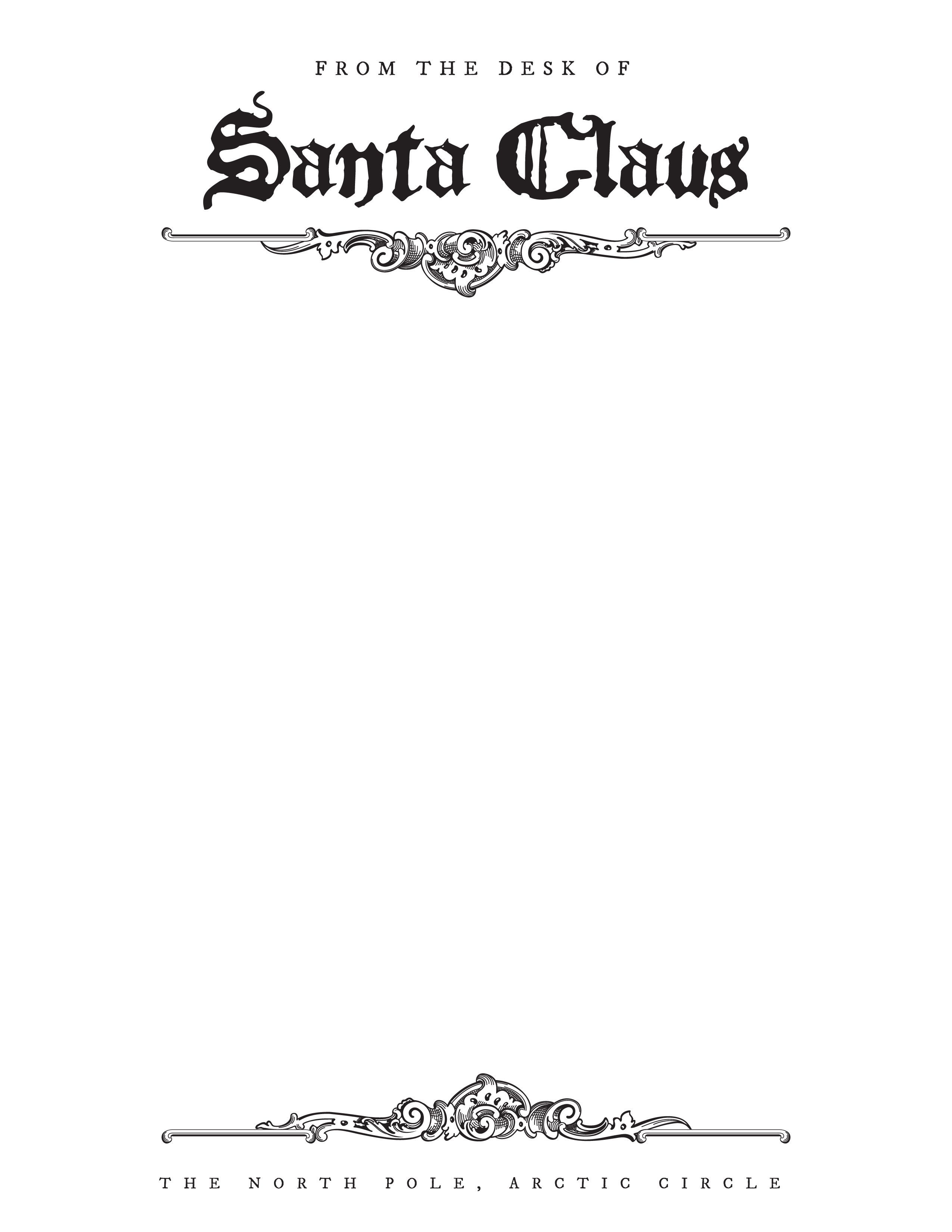 Free Letter From Santa Stationary Template | Christmas | Santa - North Pole Stationary Printable Free