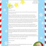 """Free """"Letter From Santa"""" Template For You To Download And Edit   Free Printable Christmas Letters From Santa"""