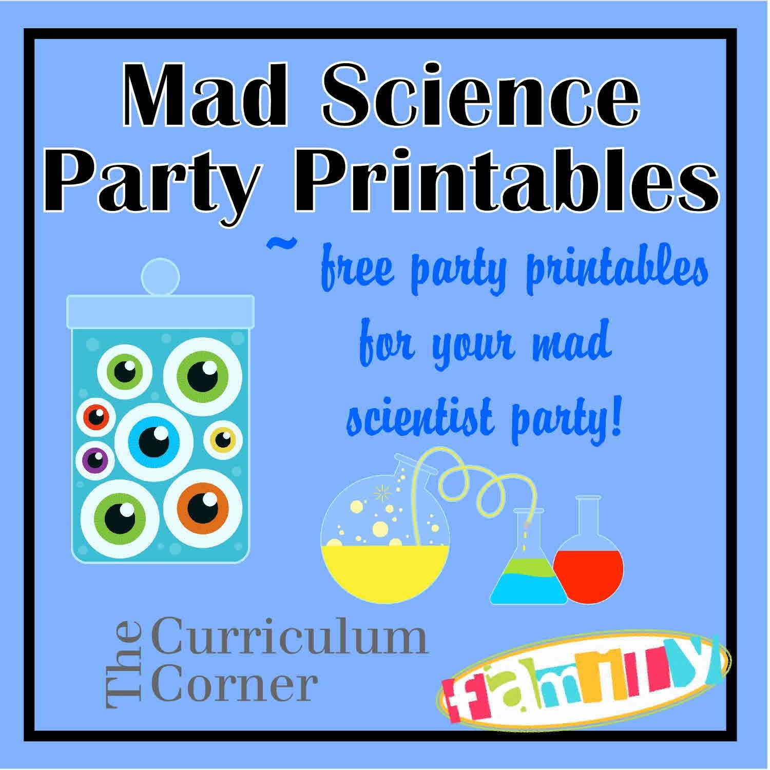 Free Mad Scientist Party Printables From Www - Scan To Enter Sign Printable Free