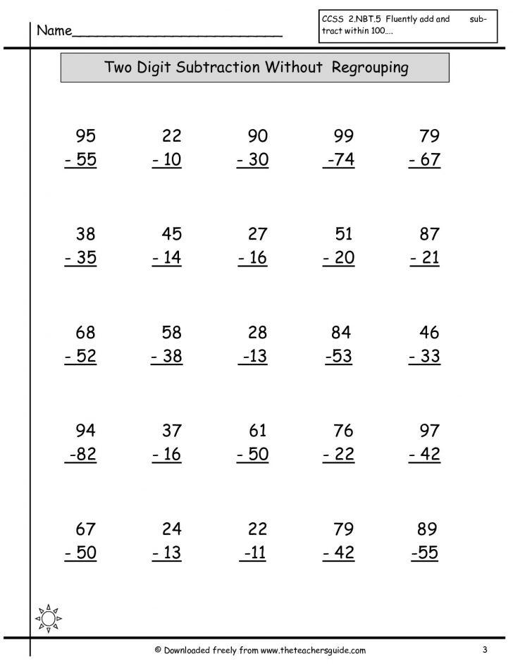 Free Printable Math Sheets