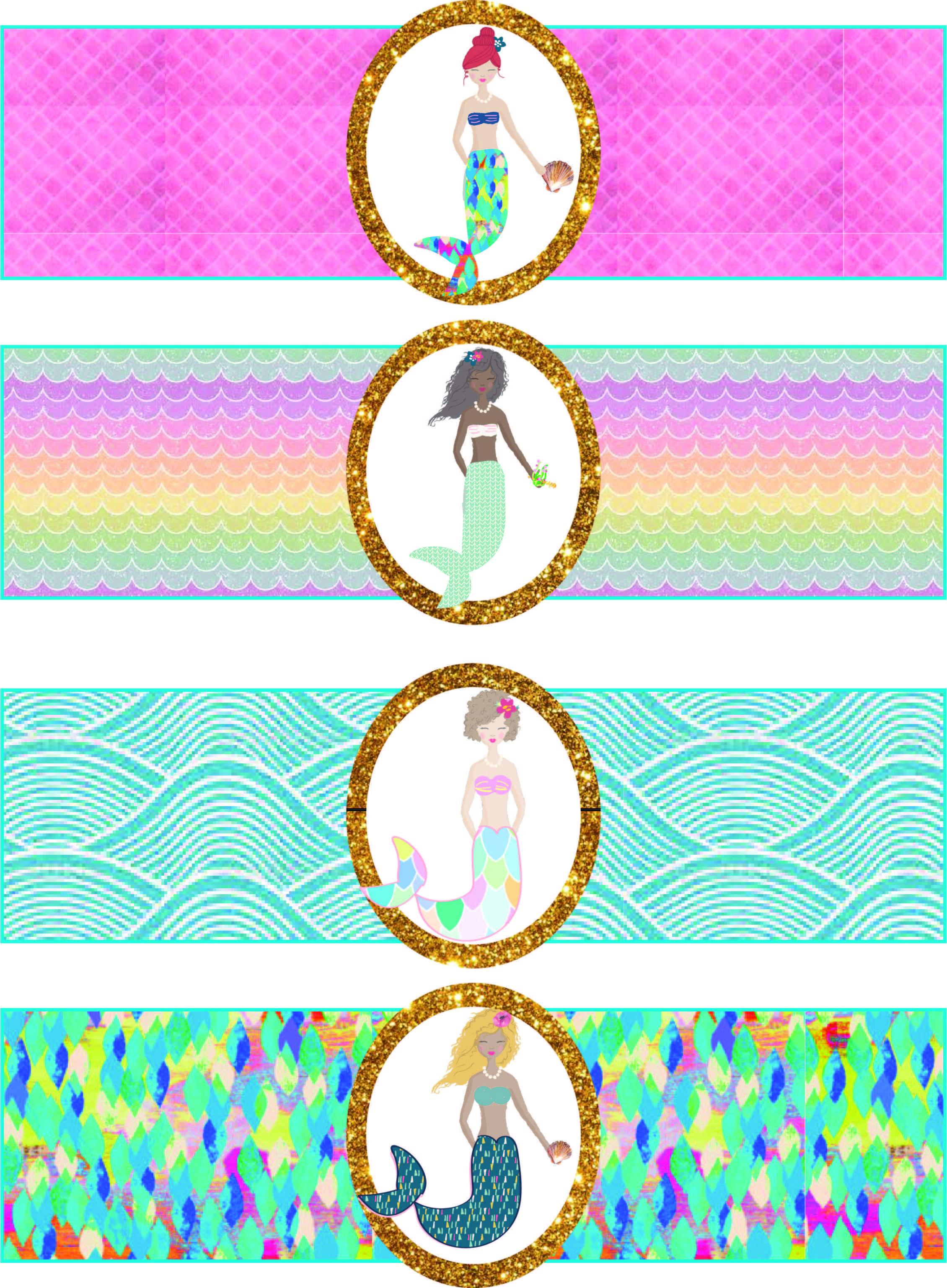 Free Mermaid Birthday Party Printables | Free Girls Party Printables - Mermaid Party Invitations Printable Free