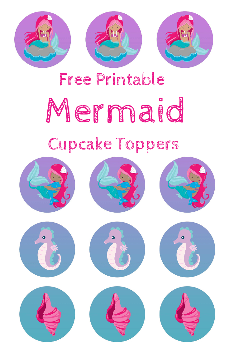 Free Mermaid Cupcake Toppers, Print Out And Pimp Your Cupcakes - Free Printable Whale Cupcake Toppers