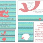 Free Mermaid Party Printables! I Will Even Customize The Invite At – Mermaid Party Invitations Printable Free
