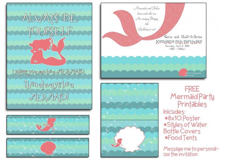 Mermaid Party Invitations Printable Free