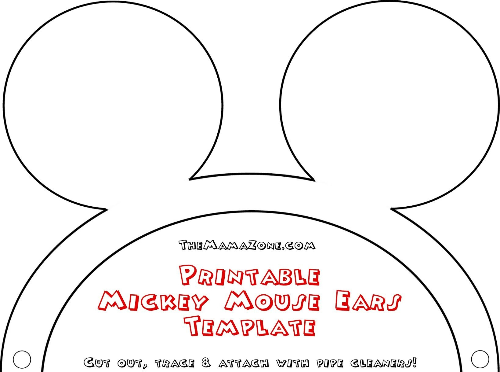 Free Mickey Mouse Ears Template | Misc | Mickey Mouse Ears, Mouse - Free Printable Minnie Mouse Ears Template