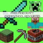 Free Minecraft Homeschool Resources: Printables, Crafts, Snacks   Free Printable Minecraft Activity Pages