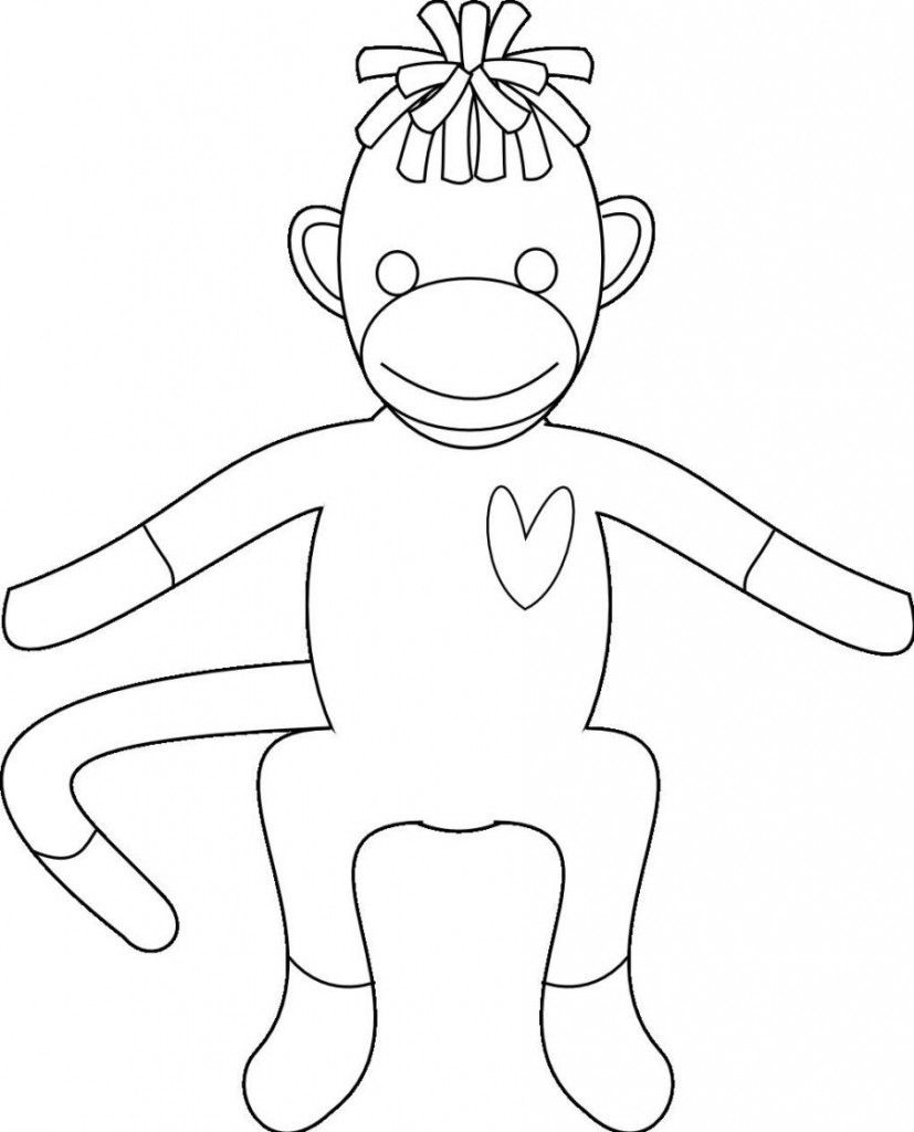 Free Monkey Sock Coloring Pages To Print Out - Enjoy Coloring | Food - Free Printable Sock Monkey Pictures