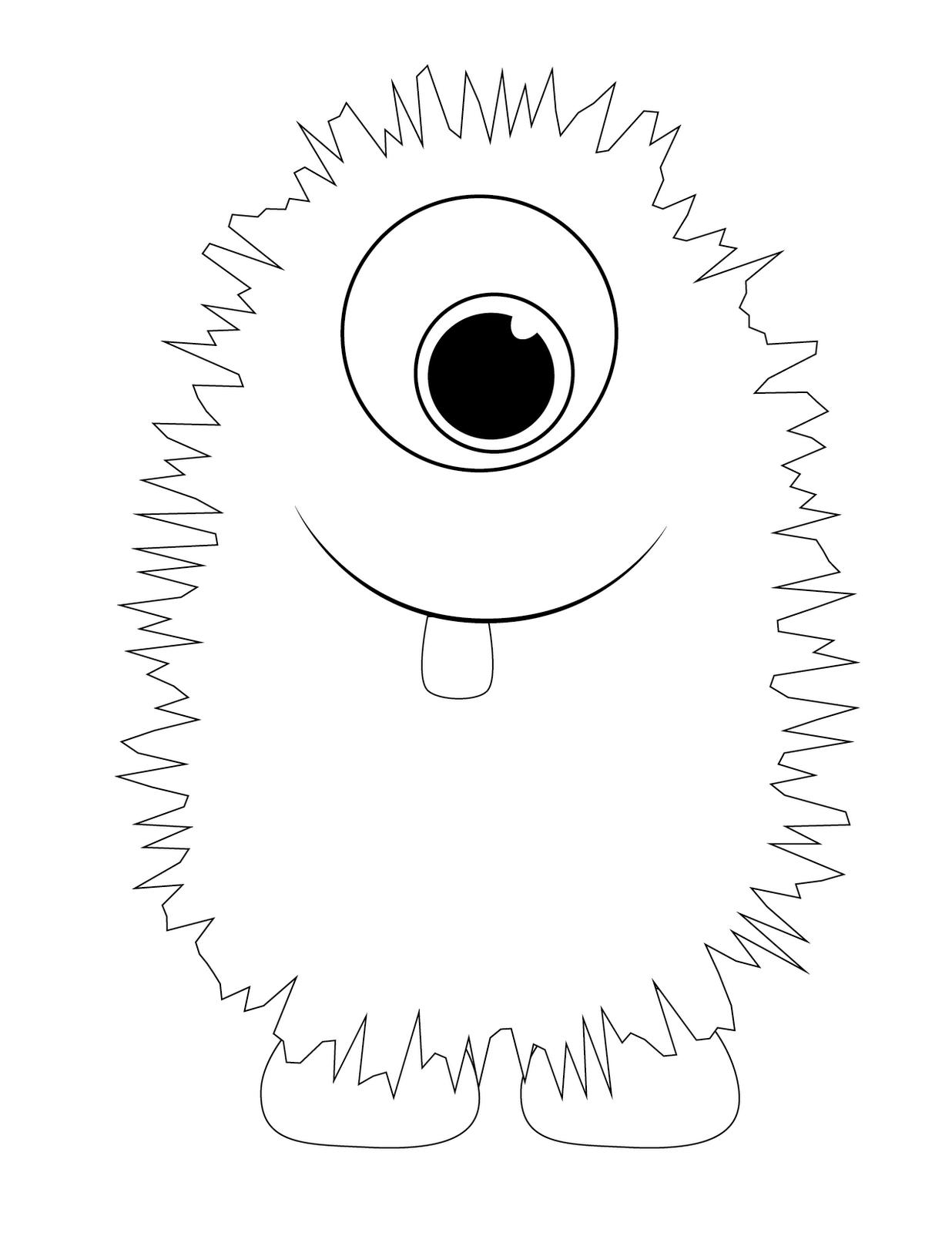 Free Monster Printables | Hunter's Monsters - Yellow Monster - Free Printable Monster Templates