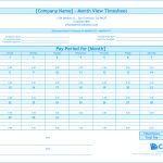 Free Monthly Timesheet Template | Clicktime   Monthly Timesheet Template Free Printable