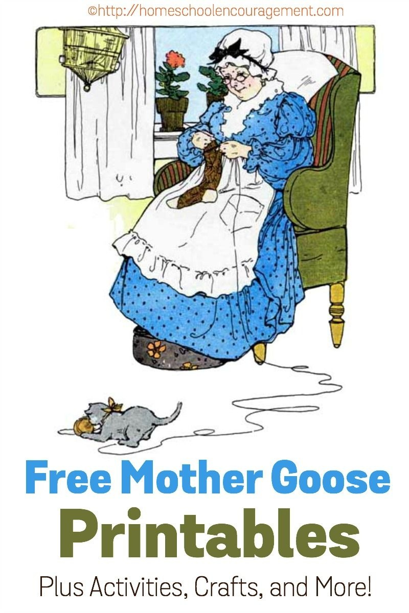 Free Mother Goose Printables Plus Crafts, Activities, And More - Free Printable Mother Goose Nursery Rhymes