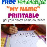 Free Name Tracing Worksheet Printable + Font Choices   Free Printable Practice Name Writing Sheets