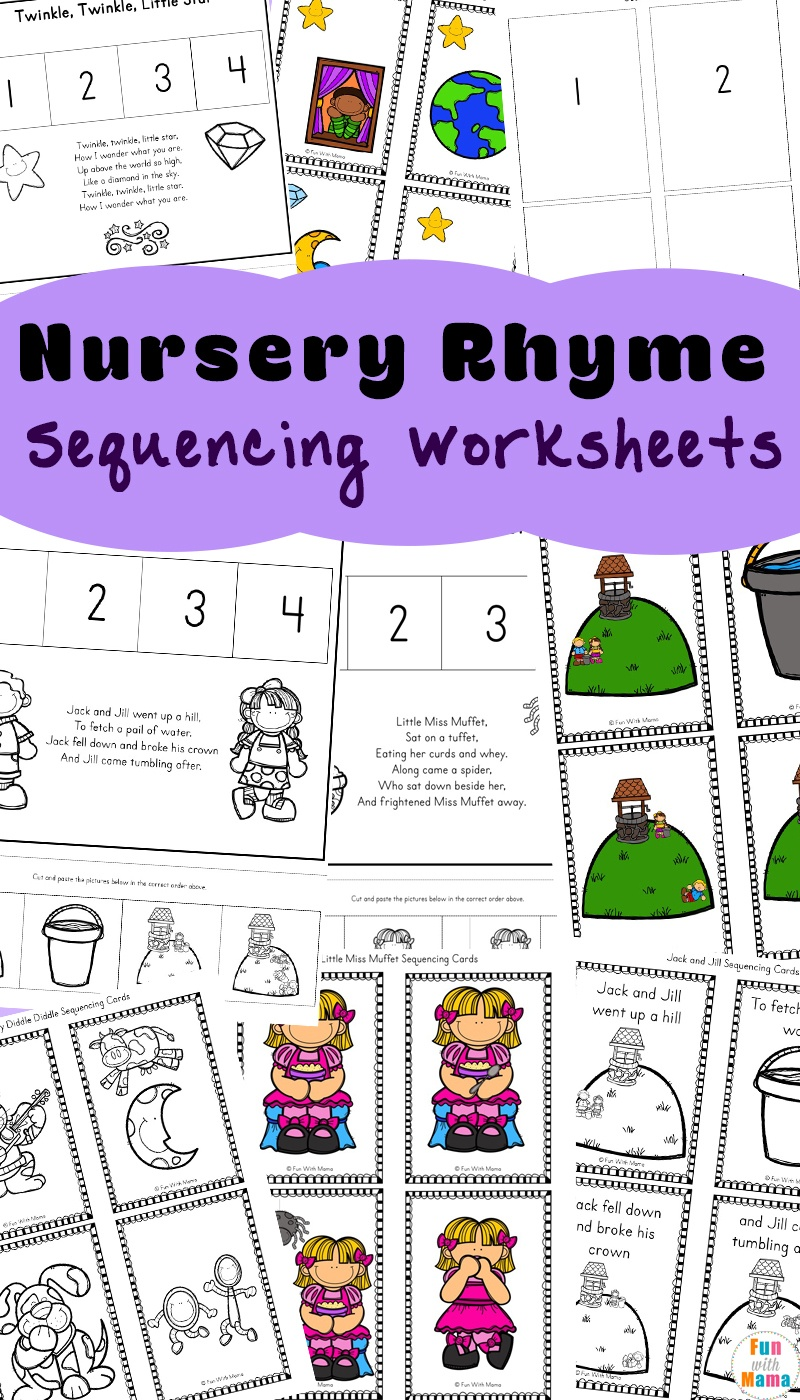 Free Nursery Rhymes Sequencing Activities - Fun With Mama - Free Printable Sequencing Worksheets For Kindergarten