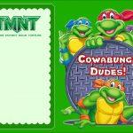 Free Online Ninja Turtle Invitation | Coolest Invitation Templates   Free Printable Tmnt Birthday Party Invitations