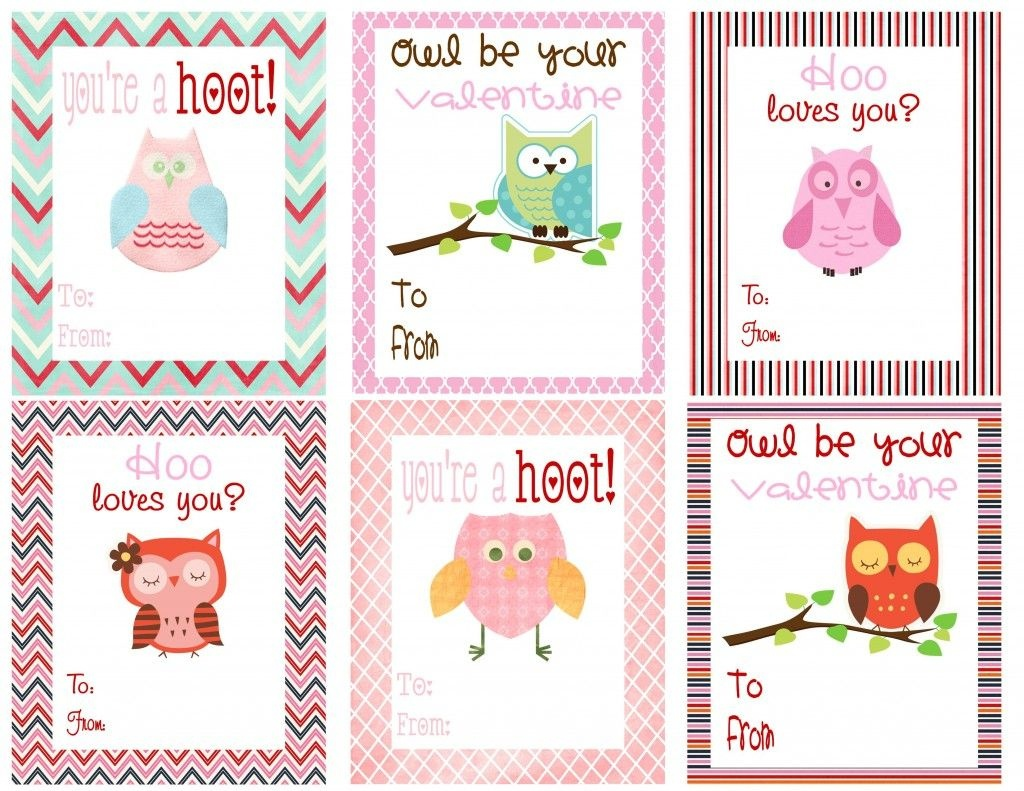 Free Owl Printables | Free Printable Valentine's Day Cards For Kids - Free Printable Valentine Cards For Kids