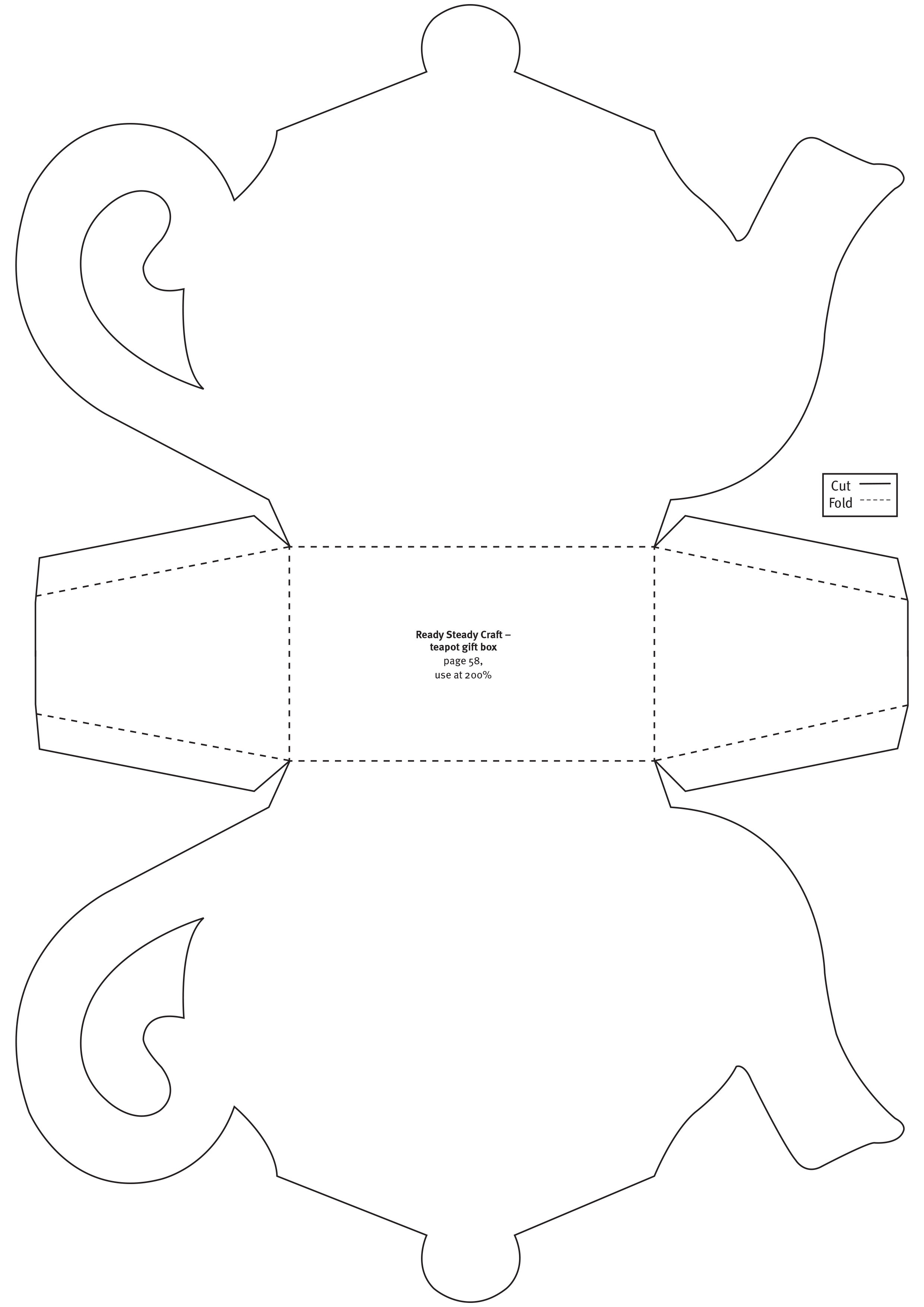 Free Papercraft Templates From Papercraft Inspirations 179 - Free Teapot Printable