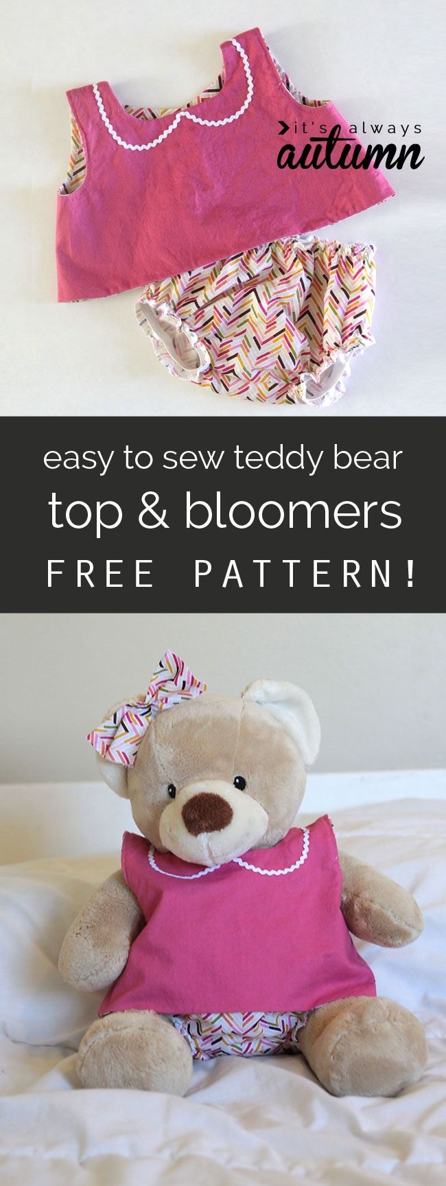 Free Pattern For Easy To Sew Teddy Bear Clothes (Build-A-Bear | Doll - Free Printable Teddy Bear Clothes Patterns