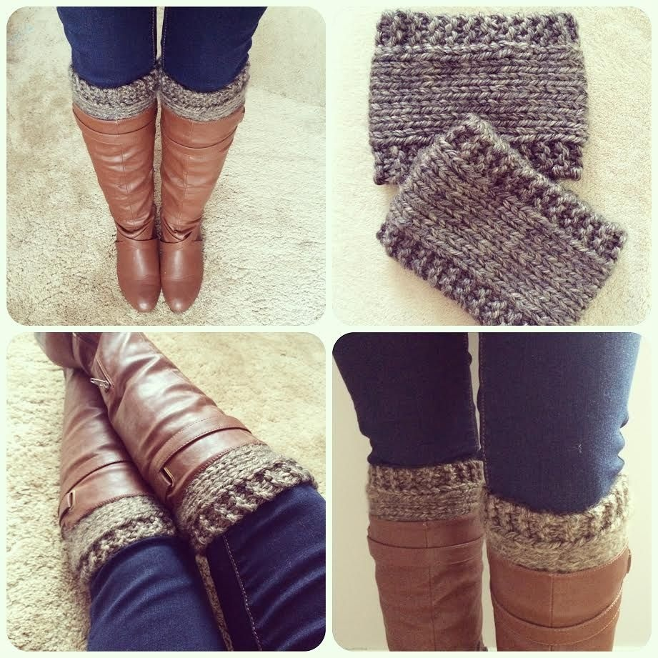 Free Pattern: Knitted Boot Cuffs//revised Version | Knitting - Free Printable Crochet Patterns For Boot Cuffs