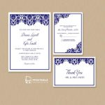 Free Pdf Damask Frame Wedding Invitation Templates – Set | Wedding   Free Printable Wedding Invitation Kits
