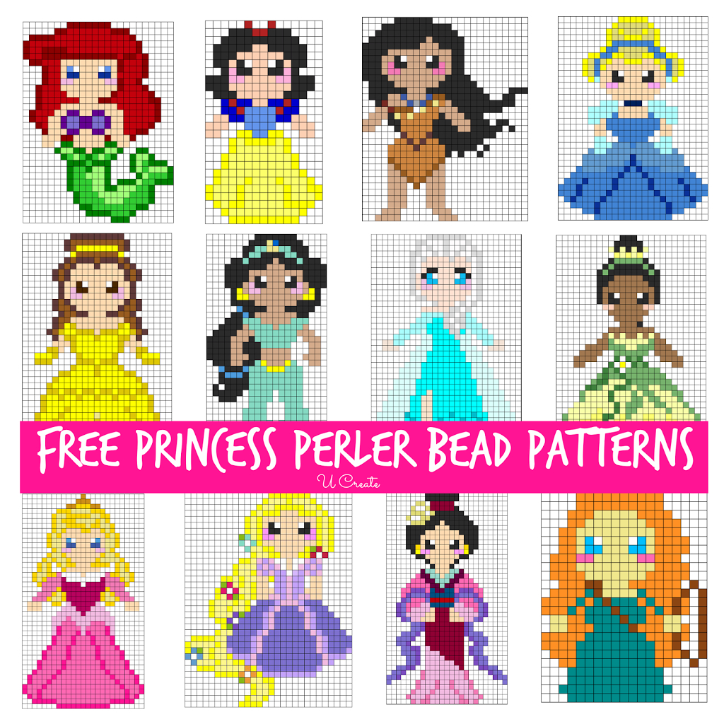 Free Perler Bead Patterns For Kids! - U Create - Pony Bead Patterns Free Printable