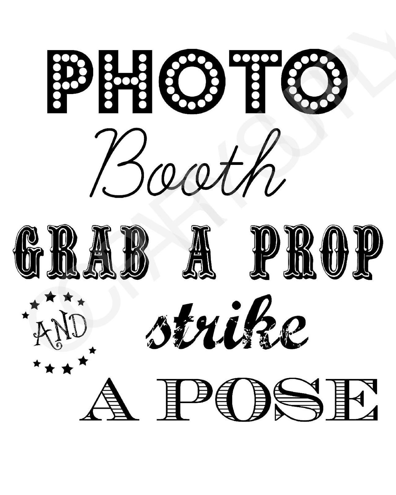 Free Photo Booth Sign (Printable) | Party Planning | Fiesta En La - Free Printable Photo Booth Sign