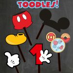 Free Photo Props Mickey Mouse Printable & Templates | Party   Free Printable Mickey Mouse Decorations