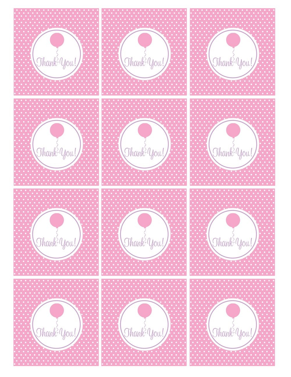 Free Pink And Purple (Girl) Birthday Printables From Green Apple - Free Printable Thank You Tags For Birthdays