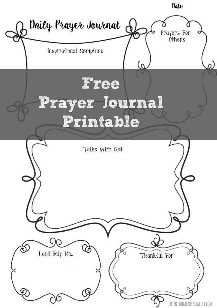 Free Prayer Journal Printable   Planners   Memory Journals   Filofax - Free Printable Prayer Journal