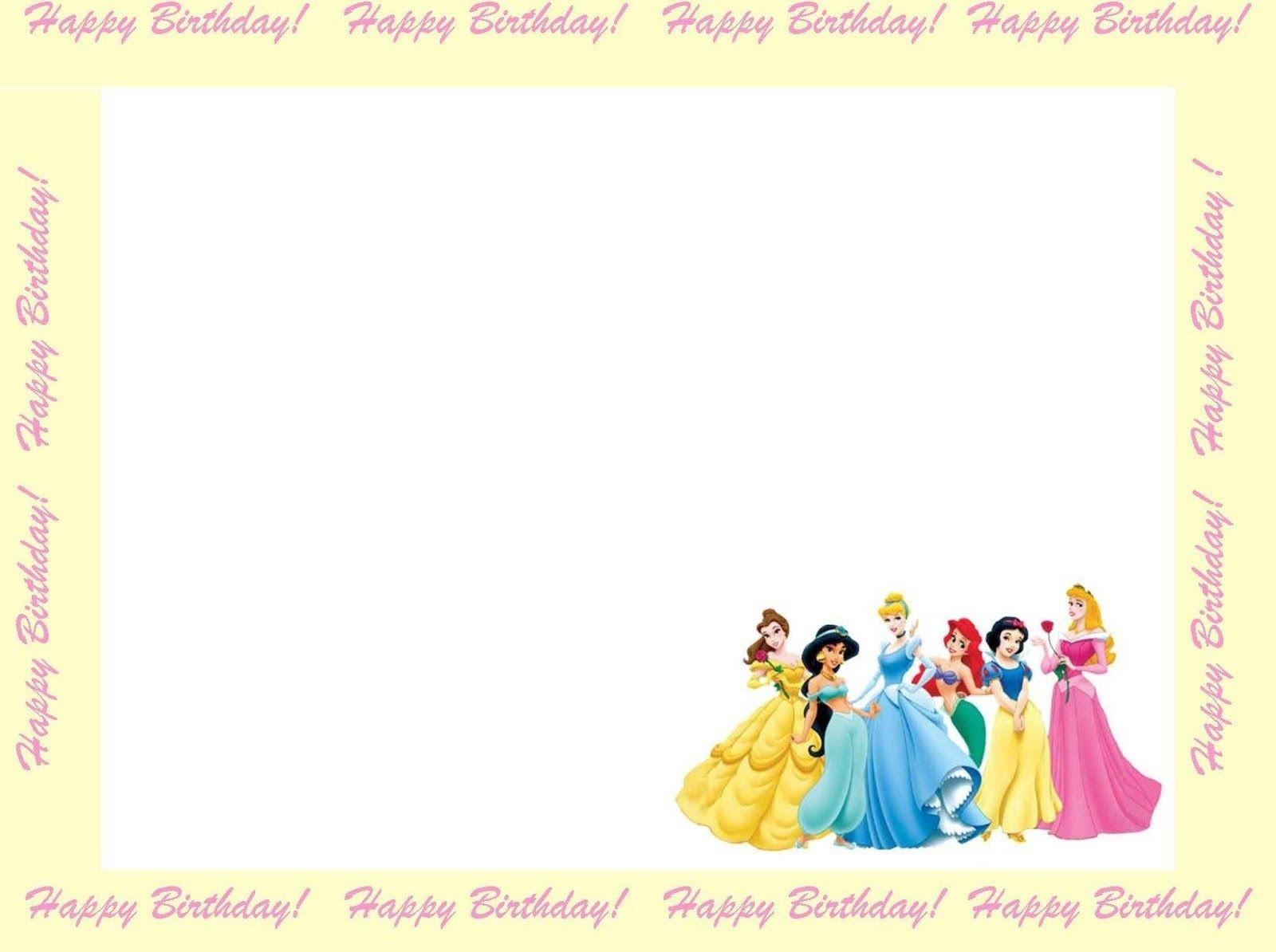 Free Princess Invitations To Print | Free Printable Disney Princess - Free Printable Princess Invitation Cards