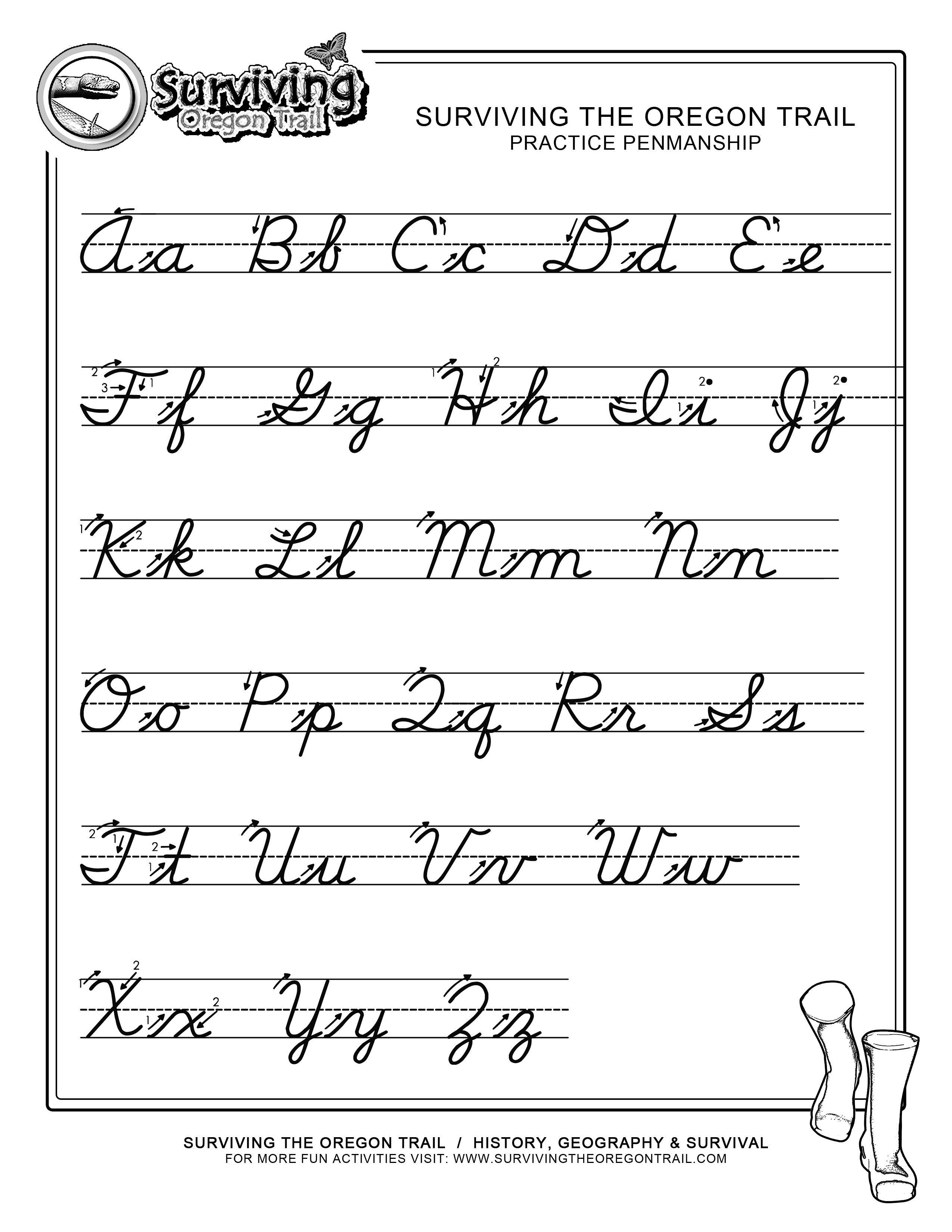 Free Print Alphabet Letter Worksheets |  – Free Abc's Printable - Cursive Letters Worksheet Printable Free